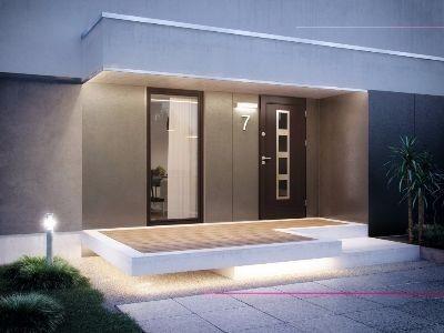 Drzwi zewnętrzne  płycinowe Elegant INOX