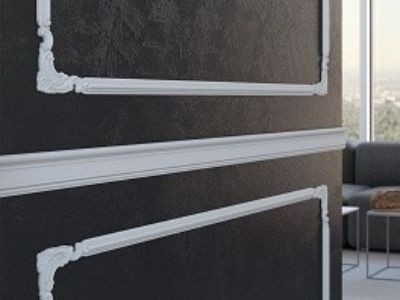 wystrój ścian sztukaterią