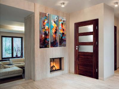 Drzwi wewnętrzne w okleinie drewnopodobnej Grenoble W-4