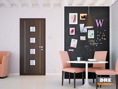 Drzwi wewnętrzne w okleinie sztucznej Galeria