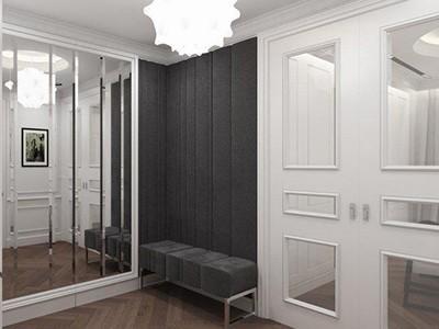 Drzwi wewnętrzne przesuwne z lustrem