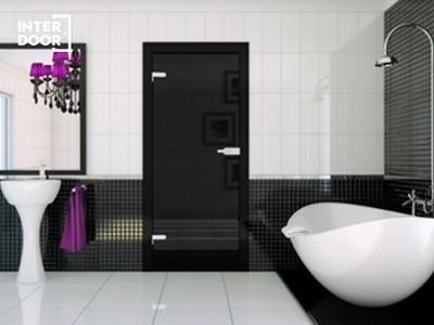 Drzwi wewnętrzne szklane czarne