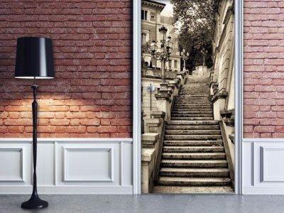 Drzwi szklane z grafiką