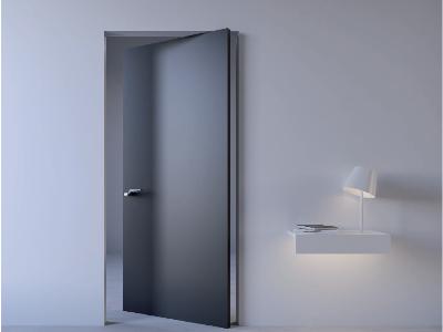 Drzwi ukryte obrotowe z ukrytą ościeżnicą