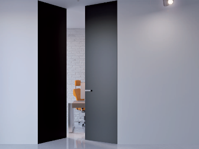 Drzwi ukryte podwójne wysokie z ukrytą ościeżnicą