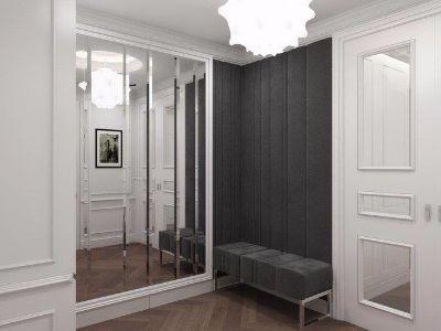 Drzwi przesuwne klasyczne z lustem