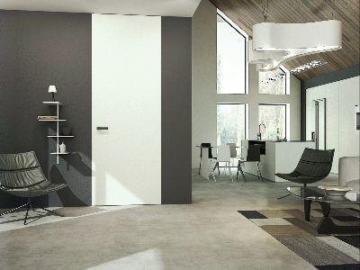 Drzwi wewnętrzne do sufitu malowane biale