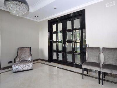 Drzwi Art Deco lakierowane na połysk czarny - Witowa