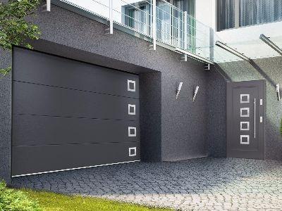 Drzwi zewnętrzne stalowe INOX 10s4
