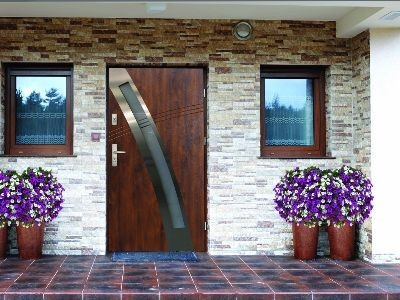 Drzwi zewnętrzne stalowe INOX 13s1