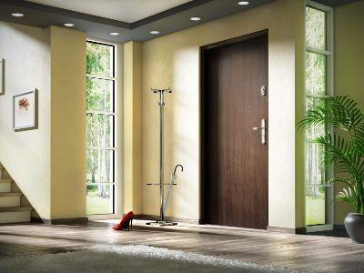 Drzwi zewnętrzne stalowe płaskie