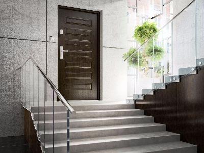 Drzwi zewnętrzne stalowe passywne 10s4