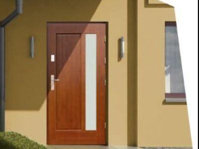 Drzwi zewnętrzne drewniane D-14