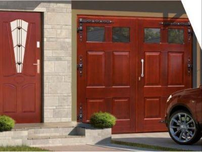 Drzwi zewnętrzne drewniane D-31
