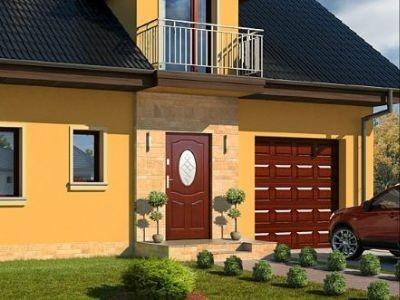 Drzwi zewnętrzne drewniane D-34