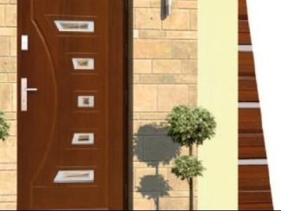 Drzwi zewnętrzne płytowe DP-4