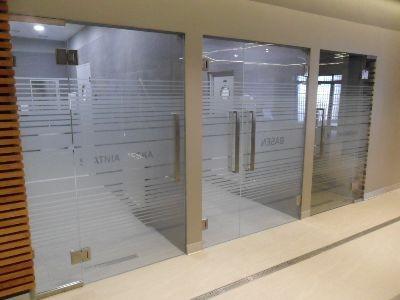 Drzwi wahadlowe szklane